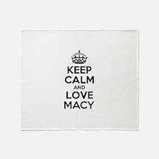 Keep Calm and Love MACY Throw Blanket