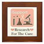 Support Breast Cancer Research Framed Tile