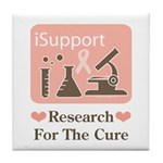 Support Breast Cancer Research Tile Coaster