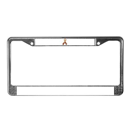 Brown B.S. Ribbon License Plate Frame