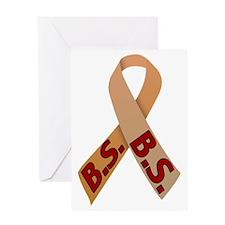 Brown B.S. Ribbon Greeting Card