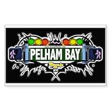 pelham bay (Black) Rectangle Decal
