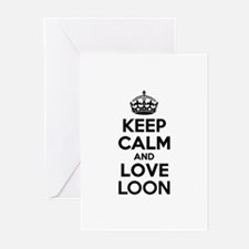 Keep Calm and Love LOON Greeting Cards