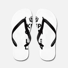 Keep Calm and Love LOON Flip Flops