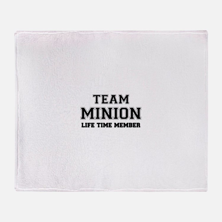 Team MINION, life time member Throw Blanket