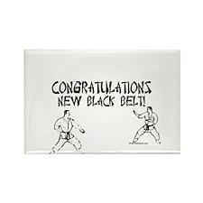congratulations new black belt Rectangle Magnet
