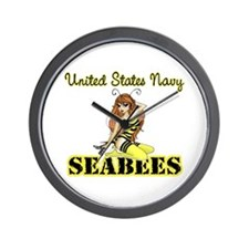 Seabee Pinup Wall Clock