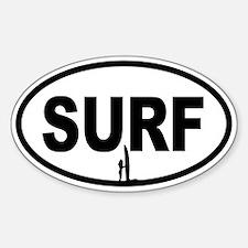 SURF Beach Bunny Oval Decal