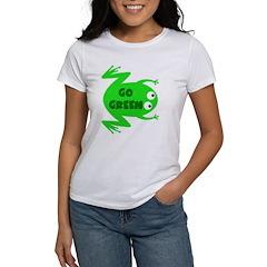 Go Green Frog Ecology Tee
