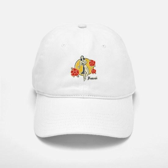 Retro Hula Girl Baseball Baseball Cap