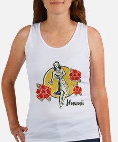 Retro Hula Girl Women's Tank Top