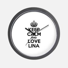 Keep Calm and Love LINA Wall Clock
