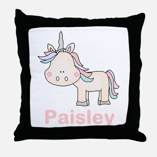 Paisley's Little Unicorn Throw Pillow