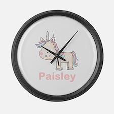 Paisley's Little Unicorn Large Wall Clock