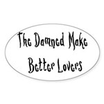 The Damned Oval Sticker