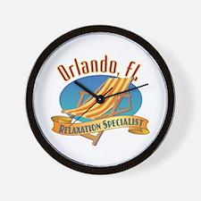 Orlando Florida Relax - Wall Clock