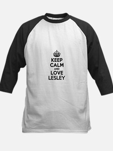 Keep Calm and Love LESLEY Baseball Jersey