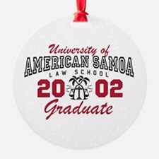 University Of American Samoa Grad Ornament