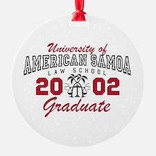 University Of American Samoa Grad Ornament
