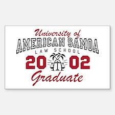 University Of American Samoa Grad Decal