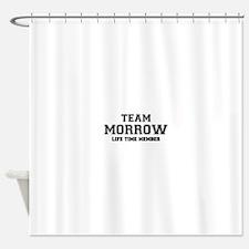 Team MORROW, life time member Shower Curtain