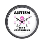 Autism isn't contagious Wall Clock