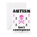 Autism isn't contagious Greeting Cards (Pk of 10)