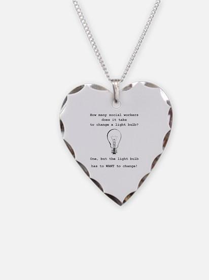 Unique Light bulb Necklace