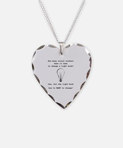 Cool Social worker Necklace Heart Charm