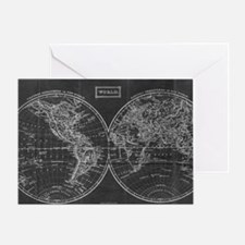 Cool Map of world Greeting Card