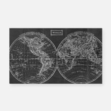 Unique Antique world map Rectangle Car Magnet