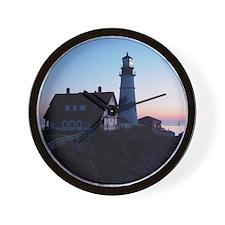Portland Headlight Daybreak Wall Clock