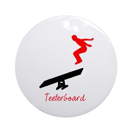 Teeterboard Ornament (Round)