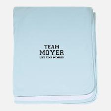 Team MOYER, life time member baby blanket