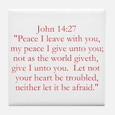 John 14:27 Tile Coaster
