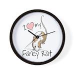 I Love My Fancy Rat Wall Clock