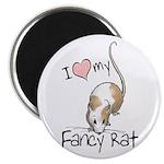 I Love My Fancy Rat Magnet