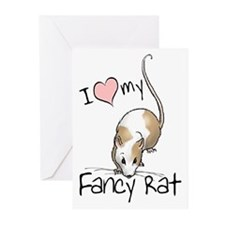 I Love My Fancy Rat Greeting Cards (Pk of 10)