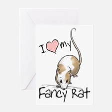 I Love My Fancy Rat Greeting Card