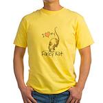 I Love My Fancy Rat Yellow T-Shirt