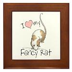 I Love My Fancy Rat Framed Tile