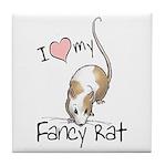 I Love My Fancy Rat Tile Coaster