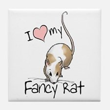 I Love My Fancy Rat Tile Coaster