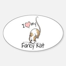I Love My Fancy Rat Oval Decal
