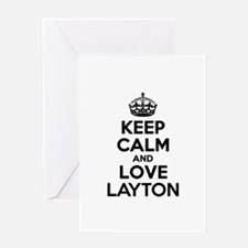 Keep Calm and Love LAYTON Greeting Cards