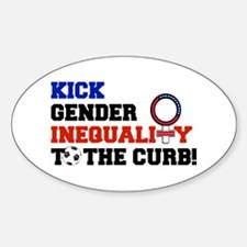 Kick Gender Inequality to the curb Decal