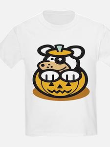 Cute Dog in Pumpkin T-Shirt