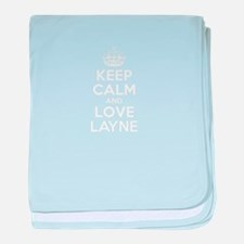 Keep Calm and Love LAYNE baby blanket