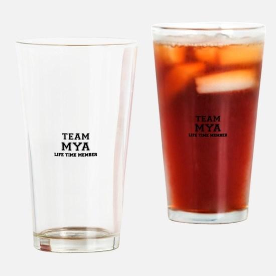 Team MYA, life time member Drinking Glass