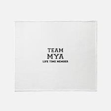 Team MYA, life time member Throw Blanket